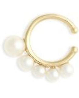 Sea Of Beauty Graduated Pearl Ear Cuff