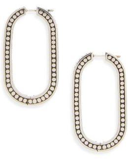 Dot Large Link Earrings