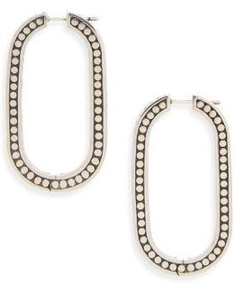 Dot Large Link Earrings
