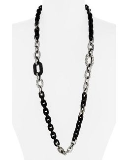 Dot Long Link Necklace