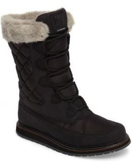 Arosa Waterproof Boot With Faux Fur Trim