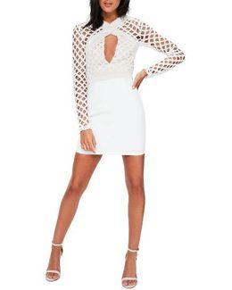 Lace Cutout Body-con Dress