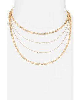 Eiffel Multirow Necklace