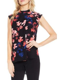Floral High/low Blouse