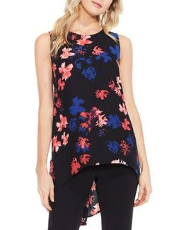 High/low Floral Blouse