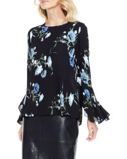 Windswept Bouquet Bell Sleeve Blouse