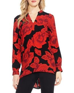 Long Sleeve Floral Tunic