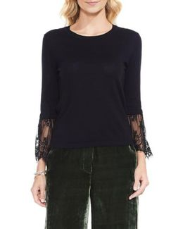 Lace Cuff Sweater