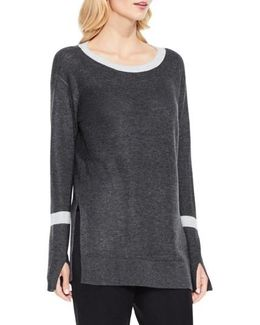 Split Bell Sleeve Sweater