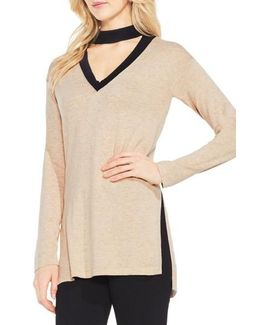 Choker V-neck Sweater
