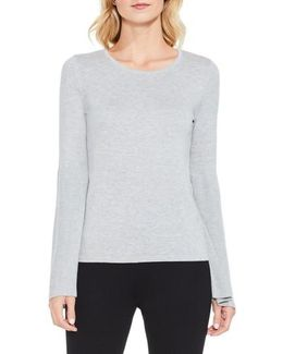 Ribbed Bell Sleeve Sweater