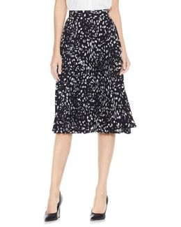 Animal Whispers Pleat Skirt