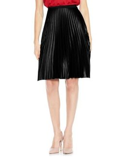 Lacquered Pleat Skirt