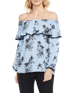 Delicate Bouquet Off The Shoulder Blouse