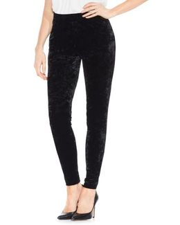 Crushed Velvet Knit Leggings