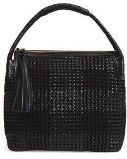 Taylor Woven Leather Hobo Bag