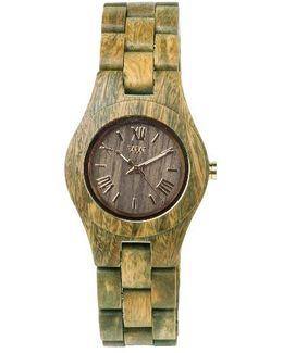 Criss Wood Bracelet Watch