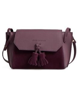 Small Penelope Leather Crossbody Bag - Purple