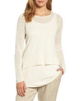 Hemp Blend Crop High/low Sweater
