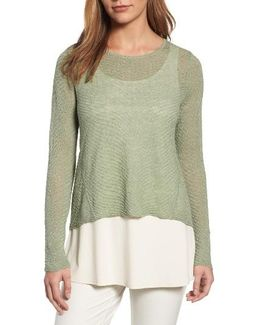 Hemp Blend Crop High/low Sweater