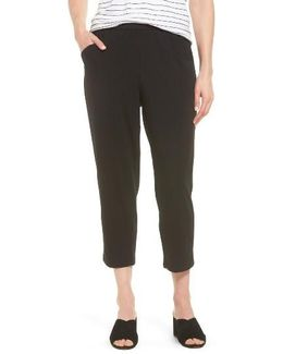 Stretch Organic Cotton Crop Pants
