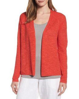 V-neck Organic Linen & Cotton Cardigan