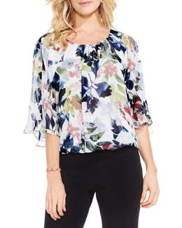 Garden Expressions Batwing Crepe Top