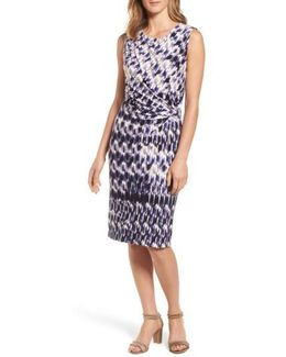 Lotus Side Twist Sheath Dress