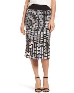 Mixed Check Skirt