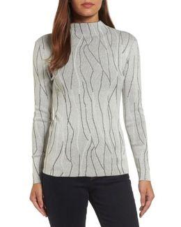 Artisanal Crackle Jacquard Sweater