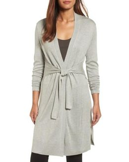 Silk Blend Trench Cardigan