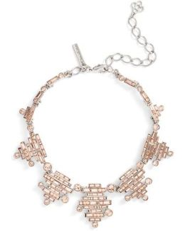 Stacked Baguette Crystal Necklace