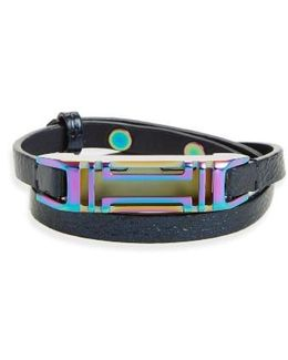 For Fitbit Leather Wrap Bracelet