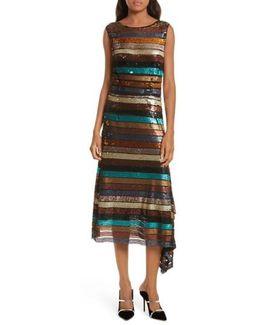 Flange Midi Dress