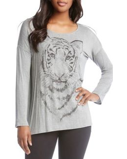 Tiger Print Long Sleeve Tee