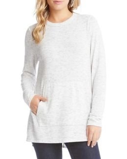 Side Slit Fleece Knit Top