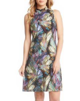 Palm Print A-line Dress