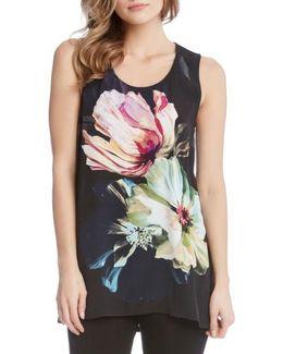 Side Slit Floral Tunic