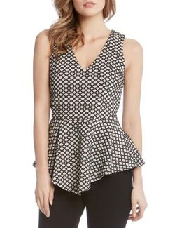 Jacquard Knit Peplum Top