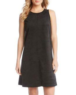 Faux Suede A-line Dress