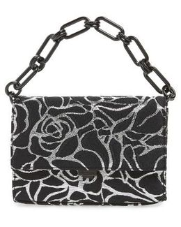 Yasmeen Small Rose Jacquard Clutch