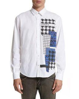 Houndstooth Print Sport Shirt