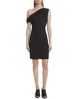One-shoulder Minidress