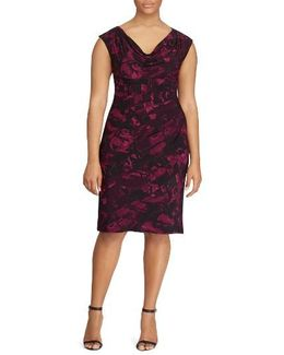 Laruen Ralph Lauren Abstract Print Sheath Dress