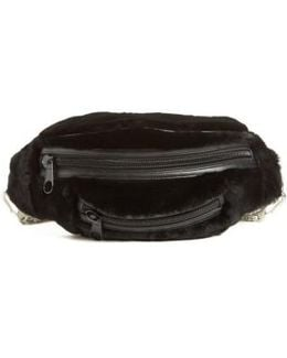 Primary Box Chain Genuine Shearling Fanny Pack