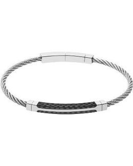 Olaf Stainless Steel & Carbon Bracelet