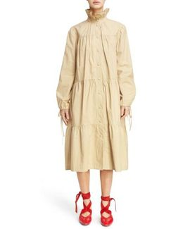 Multi Tier Washed Cotton Coat