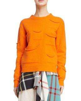 Multi Pocket Crewneck Sweater