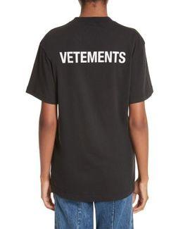 Men 39 s vetements t shirts on sale for Vetements basic staff t shirt