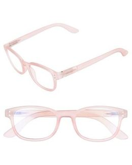 Colorspex 50mm Blue Light Blocking Reading Glasses - Pale Pink